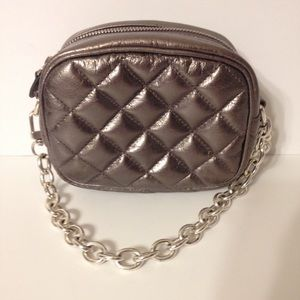 👛 BRIGHTON 👛 silver quilted mini evening bag